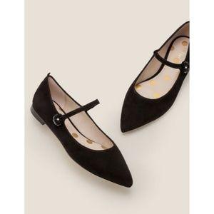 Boden Hallie Embellished Black Flats